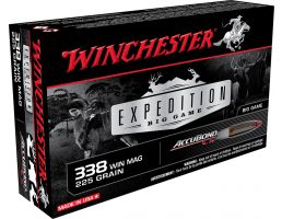 Winchester Ammunition Expedition Big Game 225 gr AccuBond CT .338 Win Mag Ammo, 20/box - S338CT