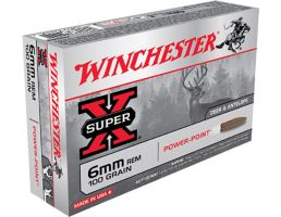Winchester Ammunition Super-X 100 gr Power-Point 6mm Rem Ammo, 20/box - X6MMR2
