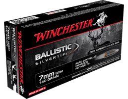 Winchester Ammunition Ballistic Silvertip 140 gr Polymer Tip 7mm WSM Ammo, 20/box - SBST7MMS