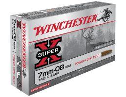 Winchester Ammunition Super-X 140 gr Power-Core 7mm-08 Rem Ammo, 20/box - X708LF