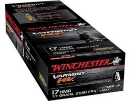 Winchester Ammunition Varmint-HV 17 gr Polymer Tip .17 HMR Ammo, 50/box - S17HMR1