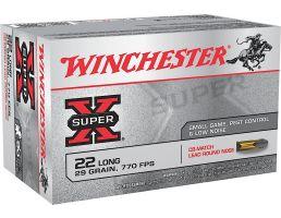 Winchester Ammunition Super-X 29 gr CB-Match Lead Round Nose .22lr Ammo, 50/box - X22LRCBMA
