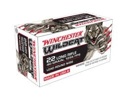 Winchester Ammunition USA Wildcat 40 gr Lead Round Nose .22lr Ammo, 50/box - WW22LR