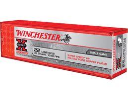 Winchester Ammunition Super-X 37 gr Super Speed HP Hollow Point Copper-Plated .22lr Ammo, 100/box - X22LRHSS1