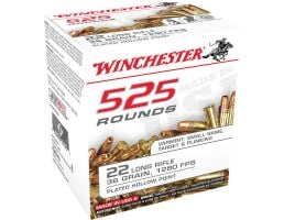 Winchester Ammunition USA 36 gr Copper-Plated Hollow Point .22lr Ammo, 525/box - 22LR525HP