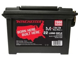 Winchester Ammunition M-22 40 gr Lead Round Nose .22lr Ammo, 2000/box - S22LRTPB