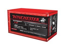 Winchester Ammunition Varmint-LF 25 gr Jacketed Hollow Point .22 Win Mag Ammo, 50/box - X22MHLF