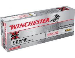 Winchester Ammunition Super-X 45 gr Lead Flat Nose Copper-Plated .22 Win Rimfire Ammo, 50/box - 22WRF