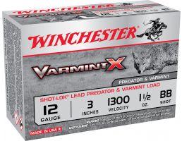"Winchester Ammunition Varmint-X Shot-Lok 3"" 12 Gauge Ammo BB, 10/box - X123VBB"