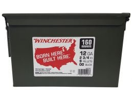 "Winchester Ammunition Winchester Buckshot 2.75"" 12 Gauge Ammo 00 Buck, 160/box - WW12C"