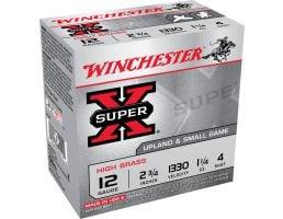 """Winchester Ammunition Super-X High Brass 2.75"""" 12 Gauge Ammo 4, 25/box - X124"""