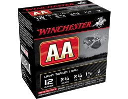 "Winchester Ammunition AA Light Target Load 2.75"" 12 Gauge Ammo 9, 25/box - AA129"