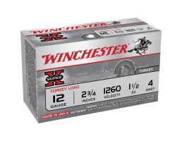 "Winchester Ammunition Super-X Turkey Load 2.75"" 12 Gauge Ammo 4, 10/box - X12MT4"