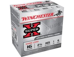 "Winchester Ammunition Super-X Game Load 2.75"" 16 Gauge Ammo 6, 25/box - XU166"