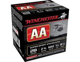 """Winchester Ammunition AA Super Sport 2.75"""" 28 Gauge Ammo 8-1/2, 25/box - AASC2885"""