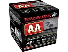 """Winchester Ammunition AA Super Sport 2.5"""" 410 Gauge Ammo 8-1/2, 25/box - AASC4185"""