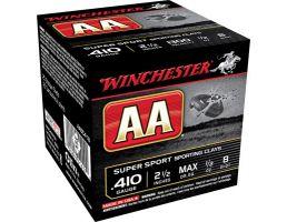 """Winchester Ammunition AA Super Sport 2.5"""" 410 Gauge Ammo 8, 25/box - AASC418"""