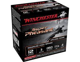 "Winchester Ammunition Super Pheasant Magnum High Brass 3"" 12 Gauge Ammo 4, 25/box - X123PH4"