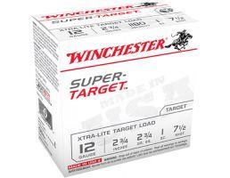 "Winchester Ammunition Super Target Xtra-Lite 2.75"" 12 Gauge Ammo 7-1/2, 25/box - TRGTL127"