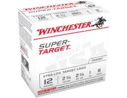 "Winchester Ammunition Super Target Xtra-Lite 2.75"" 12 Gauge Ammo 8, 25/box - TRGTL128"