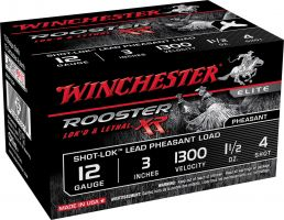 "Winchester Ammunition Rooster XR 2.75"" 12 Gauge Ammo 4, 15/box - SRXR124"