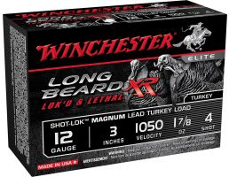 "Winchester Ammunition Long Beard XR Shot-Lok Magnum 3"" 12 Gauge Ammo 4, 10/box - STLB123M4"