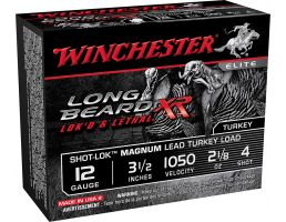 "Winchester Ammunition Long Beard XR Shot-Lok Magnum 3.5"" 12 Gauge Ammo 4, 10/box - STLB12LM4"