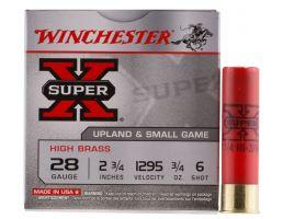 """Winchester Ammunition Super-X High Brass 2.75"""" 28 Gauge Ammo 6, 25/box - X286"""