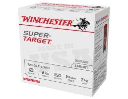 "Winchester Ammunition Super Target 2.75"" 12 Gauge Ammo 7-1/2, 25/box - TRGT11507"