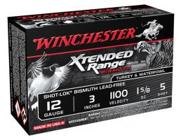 "Winchester Ammunition Xtended Range Bismuth Shot-Lok 3"" 12 Gauge Ammo 5, 10/box - XRB1235"