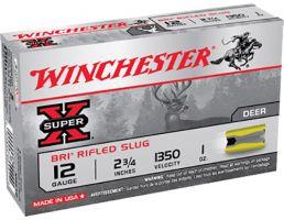 "Winchester Ammunition Super-X BRI Rifled Slugs 2.75"" 12 Gauge Ammo, 5/box - XRS12"