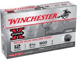 "Winchester Ammunition Super-X Rifled Slug Hollow Point 2.75"" 20 Gauge Ammo, 15/box - X20RSM5VP"