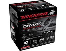 "Winchester Ammunition Drylock Super Steel 3.5"" 10 Gauge Ammo BBB, 25/box - SSH10BBB"