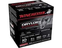 "Winchester Ammunition Drylock Super Steel 3.5"" 10 Gauge Ammo 2, 25/box - XSC102"