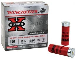 "Winchester Ammunition Super-X 2.75"" 12 Gauge Ammo 6, 100/box - WE12GTVP6"