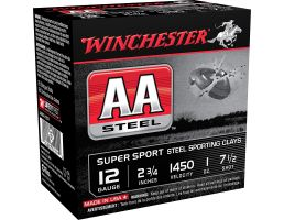 "Winchester Ammunition AA Steel 2.75"" 12 Gauge Ammo 7-1/2, 25/box - AASCL12S7"