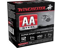 "Winchester Ammunition AA Steel 2.75"" 12 Gauge Ammo 7-1/2, 25/box - AASCL12S7"