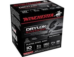 "Winchester Ammunition Drylock Super Steel Magnum 3.5"" 10 Gauge Ammo BB, 25/box - XSC10BB"
