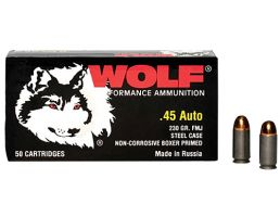Wolf Performance Military Classic 230 gr Full Metal Jacket .45 Auto Ammo, 50/box - MC45FMJ