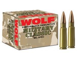 Wolf Performance Military Classic 145 gr Soft Point .308 Win/7.62 Ammo, 500/case - MC308SP140