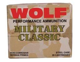 Wolf Performance Military Classic 168 gr Full Metal Jacket .30-06 Spfld Ammo, 500/case - MC3006FMJ168