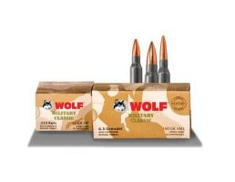 Wolf Performance Military Classic 60 gr FMJ 5.45x39mm Ammo, 750 rds/case - MC545BFMJ