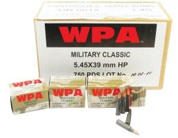 Wolf Performance Military Classic 55 gr Soft Point 5.45x39mm Ammo, 750/case - MC545BSP