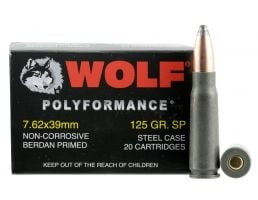 Wolf Performance PolyFormance 125 gr Soft Point 7.62x39mm Ammo, 1000 rds/case - 762BSP