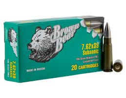 Fime Group Brown Bear 196 gr Full Metal Jacket 7.62x39mm Ammo - ASUB762FMJ