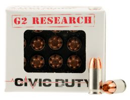 G2 Research Civic Duty 64 gr Copper Expansion Projectile .380 ACP Ammo, 20/box - CIVIC 380