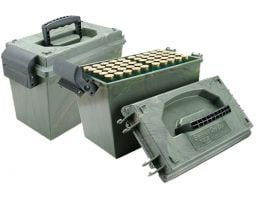 MTM Case Gard SD-100 12 Gauge 100 Round Shotshell Dry Box, Green Wild Camo - SD1001209