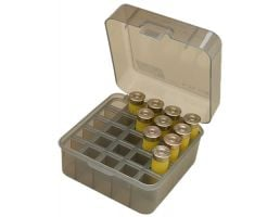 MTM Case Gard S25D 12/16/20 Gauge 25 Round Dual Gauge Shotshell Case, Clear Smoke - S25D-41