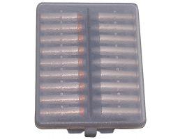 MTM Case Gard .38/.357 Cal 18 Round Ammo Wallet, Clear Smoke - W18-38-41