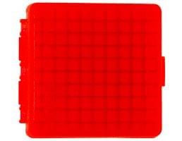 MTM Case Gard P-100 .22 Mag/.17 HMR 100 Round Flip-Top Ammo Box, Clear Red - P10022M29